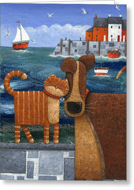 Friend Ship Greeting Cards - Pets By The Sea Greeting Card by Peter Adderley
