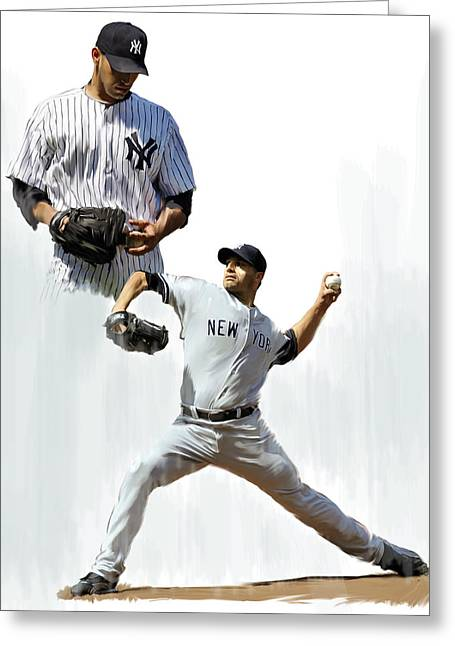 Pettitte  Andy Pettitte Greeting Card by Iconic Images Art Gallery David Pucciarelli