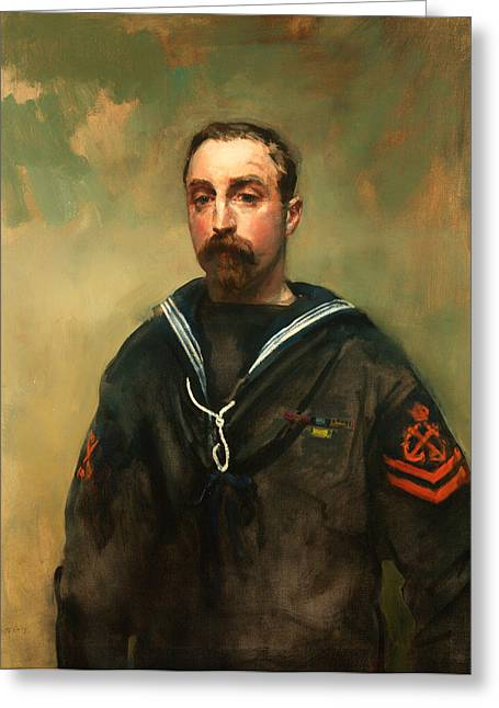 Historic England Paintings Greeting Cards - Petty Officer 1918 Greeting Card by Ambrose McEvoy