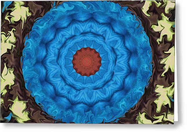Petunias Inside Out Greeting Card by Aliceann Carlton