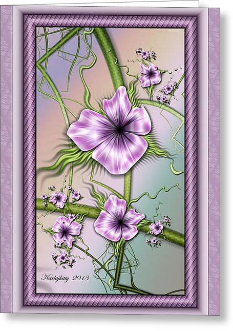 Karlajkitty Digital Art Greeting Cards - Petunias Greeting Card by Karla White