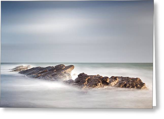 Ledge Photographs Greeting Cards - Peverill Point Swanage Greeting Card by Chris Frost