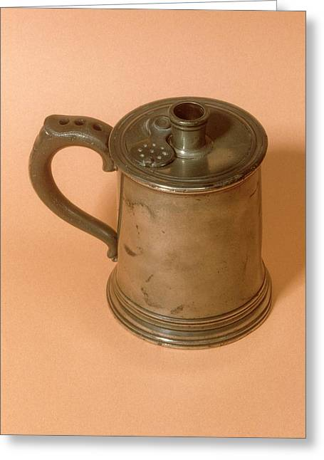 Pewter Balsam Inhaler Greeting Card by Science Photo Library