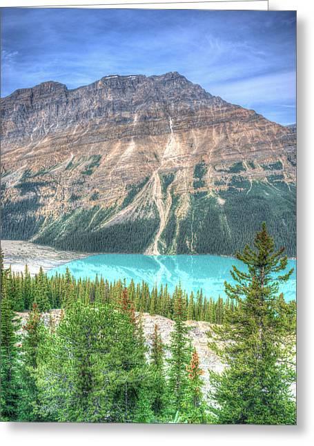 Ebenezer Greeting Cards - Peyto Lake 3 Greeting Card by Douglas Barnett