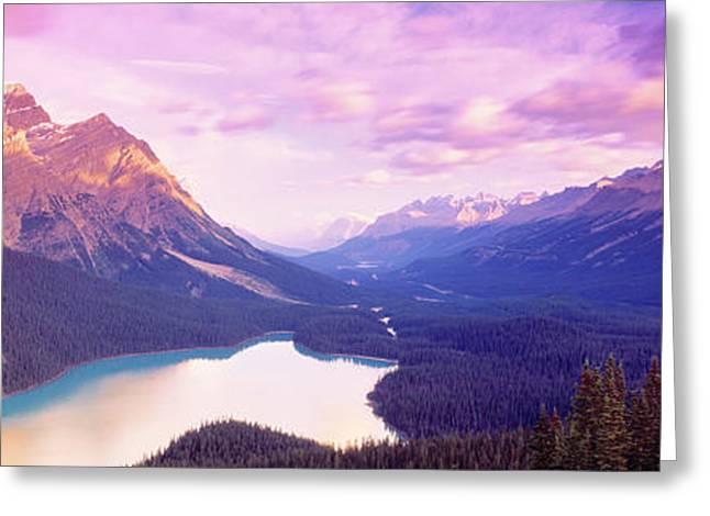 Banff National Park Canada Greeting Cards - Peyto Lake, Alberta, Canada Greeting Card by Panoramic Images