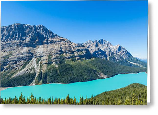 Lake Photography Greeting Cards - Peyto Lake At Banff National Park Greeting Card by Panoramic Images