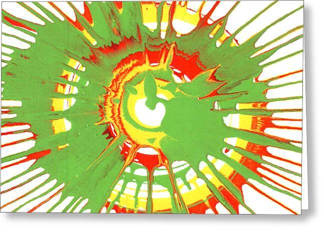 Spokes Paintings Greeting Cards - Peyton 2 Greeting Card by Gabe Arroyo