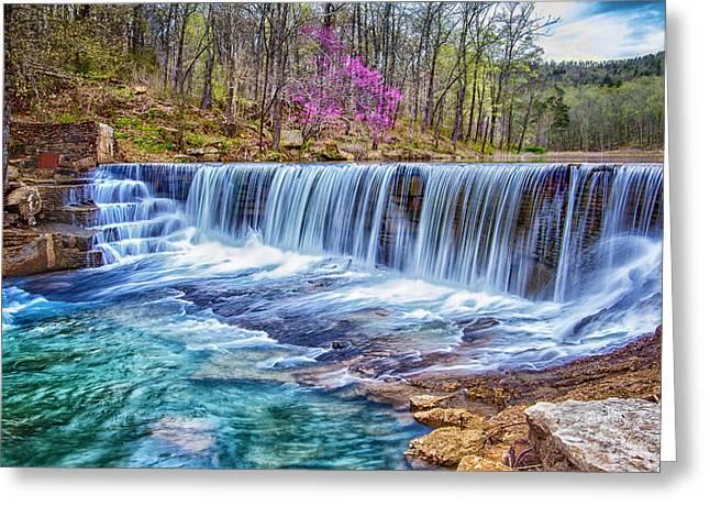 Ozarks Digital Art Greeting Cards - Peyton Creek Dam Greeting Card by Bob King