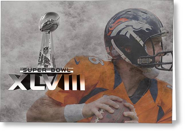 Broncos Greeting Cards - Peyton Manning Greeting Card by Joe Hamilton