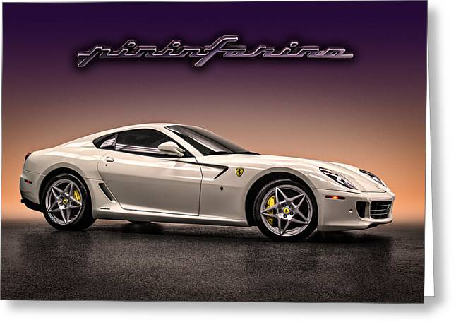 White Digital Greeting Cards - PF Flyer - Ferrari 599 Greeting Card by Douglas Pittman
