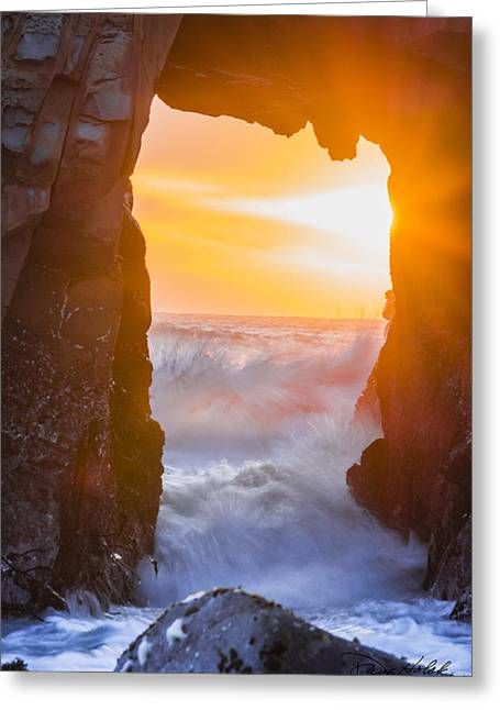 Pfeiffer Beach Greeting Cards - Pfeiffer Beach Keyhole Arch Greeting Card by Doug Holck