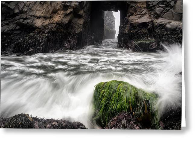 Recently Sold -  - Pfeiffer Beach Greeting Cards - Pfeiffer Beach Keyhole Rock Greeting Card by Chris Frost