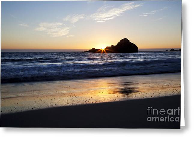 Pfeiffer Beach Sunset Greeting Card by Jenna Szerlag
