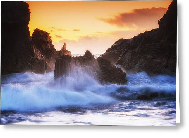 Big Sur Ca Greeting Cards - Pfeiffer Beach Sunset Greeting Card by Priya Saihgal