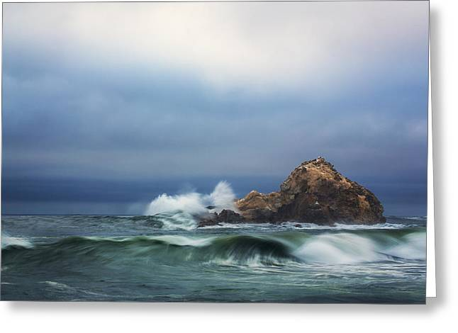Pfeiffer Beach Greeting Cards - Pfeiffer Beach Waves Greeting Card by Malcolm MacGregor