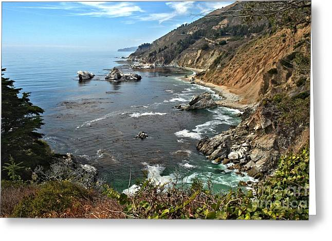 Big Sir California Greeting Cards - Pfeiffer Burns Bay Greeting Card by Adam Jewell