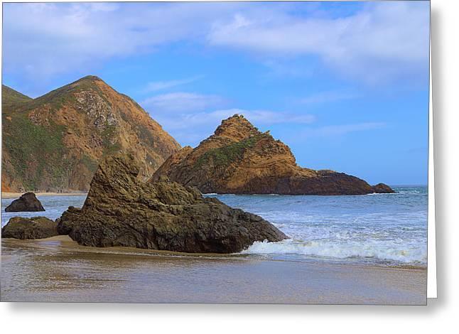 Pfeiffer Beach Greeting Cards - Pfeiffer Beach On Big Sur Coast Greeting Card by Viktor Savchenko