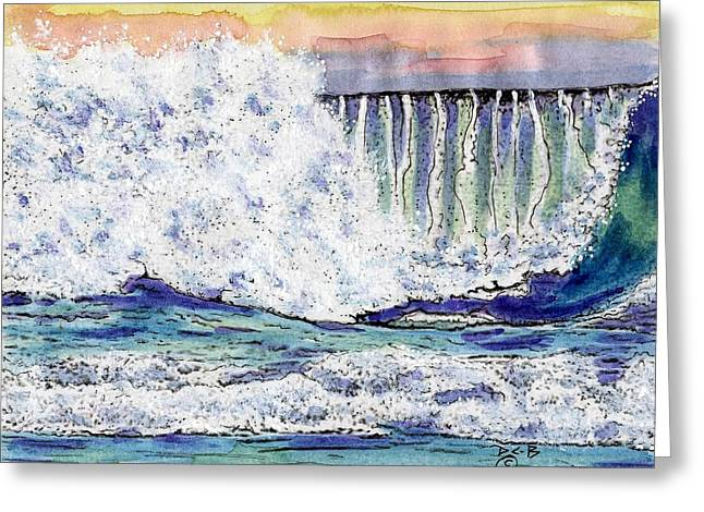 Big Sur Beach Paintings Greeting Cards - Pfieffer Beach Wave #2 Greeting Card by Diana Cardosi-Bussone