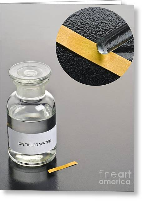 Neutral Colours Greeting Cards - Ph Of Distilled Water Greeting Card by Martyn F. Chillmaid