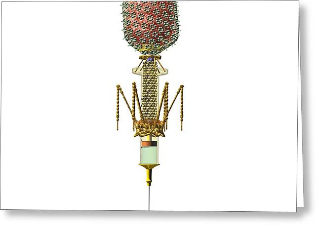 Phage Therapy Syringe Greeting Card by Russell Kightley