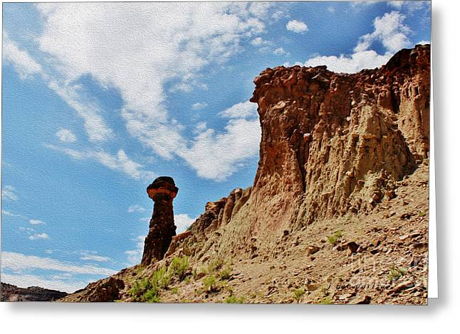 Old West Postcards Greeting Cards - Phallic Rock Formation Greeting Card by Janice Rae Pariza