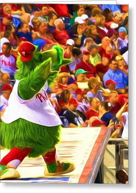 Phanatic Digital Art Greeting Cards - Phanatic In Action Greeting Card by Alice Gipson