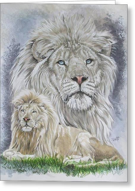 Wildcats Mixed Media Greeting Cards - Phantasy Greeting Card by Barbara Keith