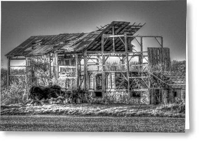Tin Roof Greeting Cards - Phantom Barn Greeting Card by Bryan Davies