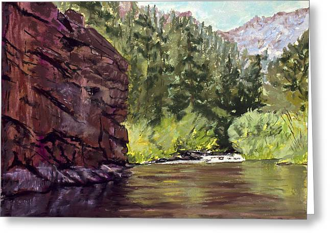 River View Pastels Greeting Cards - Phantom Canyon Greeting Card by Mary Benke