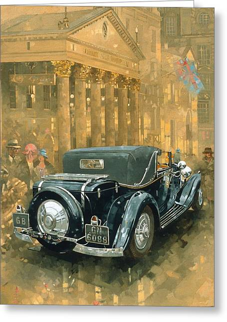 West End Greeting Cards - Phantom In The Haymarket Oil On Canvas Greeting Card by Peter Miller