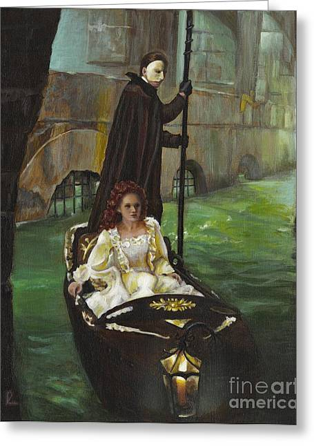 Dungeons Paintings Greeting Cards - Phantom of Opera Greeting Card by Diana Licon