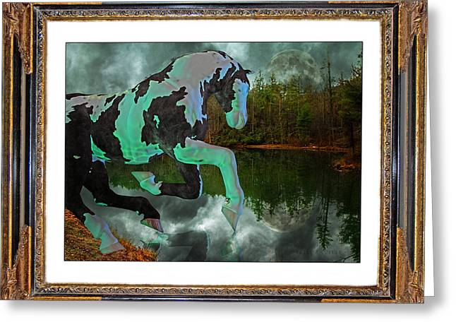 Ghost Story Greeting Cards - Phantom on the Lake Greeting Card by Betsy C  Knapp