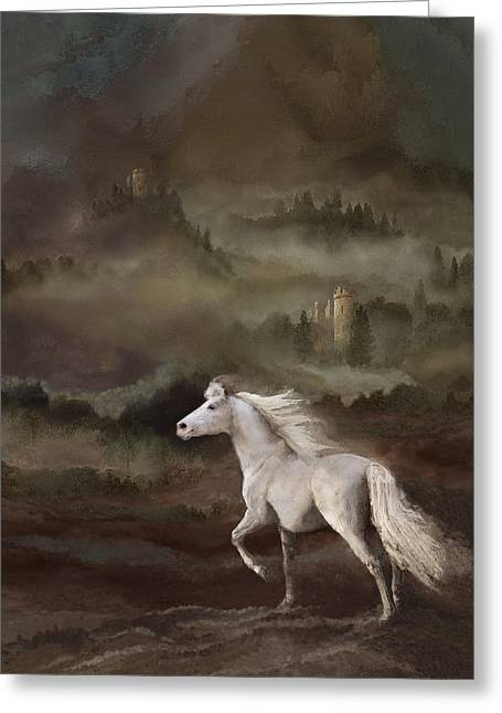 Award Winning Art Greeting Cards - Storybook Stallion Greeting Card by Melinda Hughes-Berland