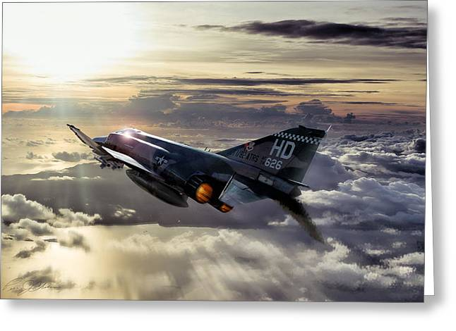 Interceptor Greeting Cards - Phantom Sunrise Greeting Card by Peter Chilelli