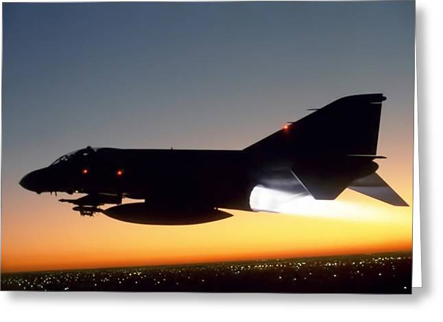 Interceptor Greeting Cards - Phantom Sunset Greeting Card by Peter Chilelli