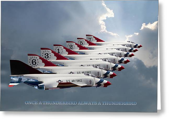 Thunderbird Greeting Cards - Phantom Team Thunderbirds Greeting Card by Peter Chilelli