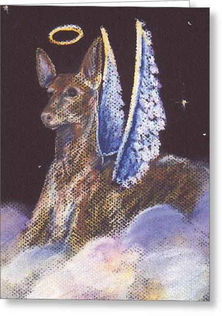 Pharaoh Pastels Greeting Cards - Pharaoh Hound Angel Greeting Card by Darlene Grubbs