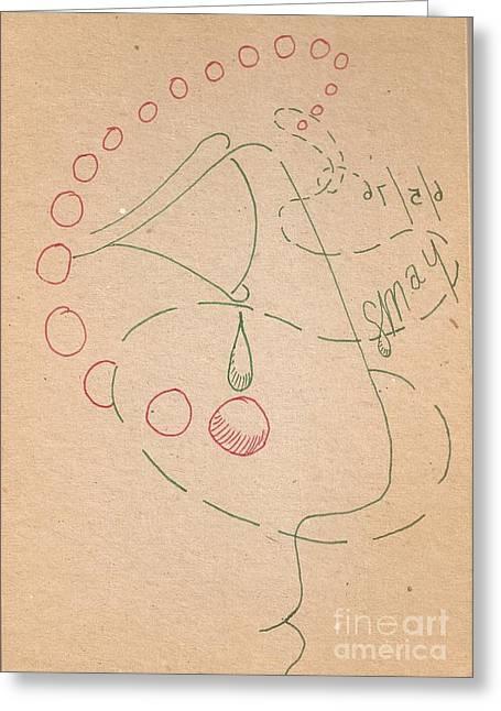 Pharaoh Drawings Greeting Cards - Pharaoh Profile 1 Greeting Card by Rod Ismay