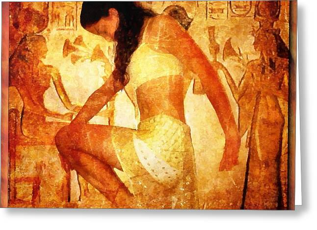 Pharaoh Digital Art Greeting Cards - Pharaohs Daughter Greeting Card by Gun Legler