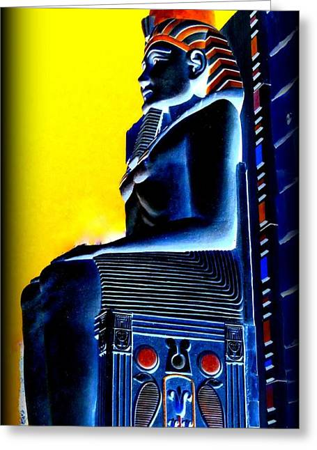 Pharaoh Digital Art Greeting Cards - Pharaohs Lost Kingdom 4 Greeting Card by Randall Weidner