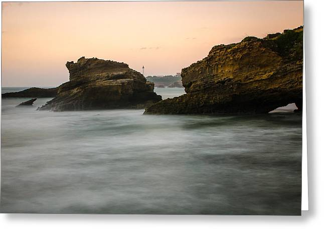 Greeting Card featuring the photograph Phare De Biarritz by Thierry Bouriat