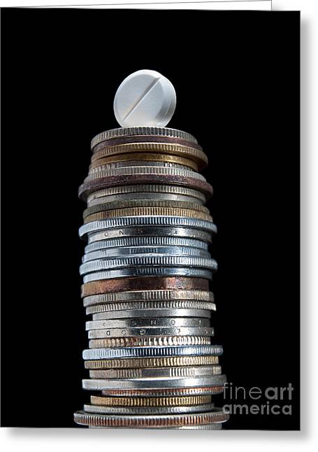 Coins Greeting Cards - Pharmaceutical tower Greeting Card by Sinisa Botas