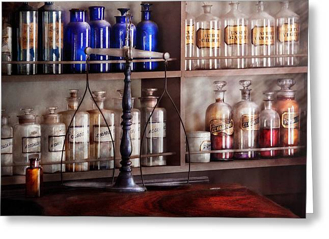 Pharmacy - Apothecarius  Greeting Card by Mike Savad