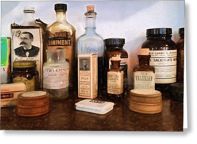 Liniment Greeting Cards - Pharmacy - Apothecary  Greeting Card by L Wright
