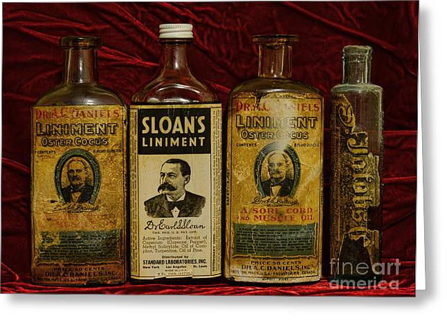 Liniment Greeting Cards - Pharmacy - Liniments for Sore Muscles Greeting Card by Paul Ward