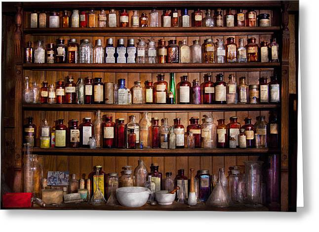 Customizable Photographs Greeting Cards - Pharmacy - Pharma-palooza  Greeting Card by Mike Savad