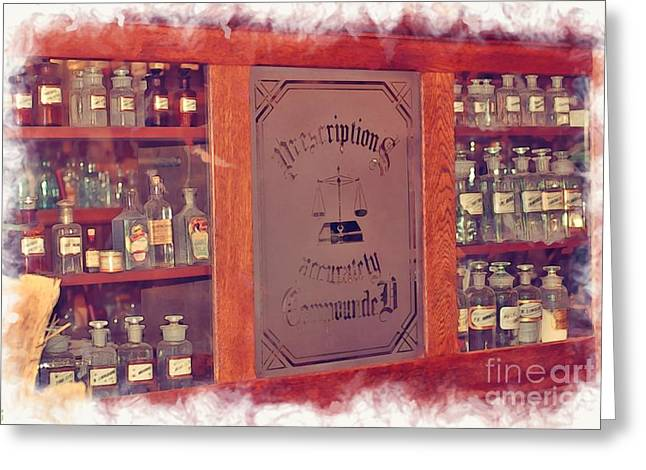 Medication Greeting Cards - Pharmacy - Prescriptions Greeting Card by Liane Wright