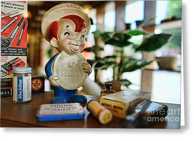 Pharmacy - Speedy Alka Seltzer - Vintage Advertising  Greeting Card by Paul Ward