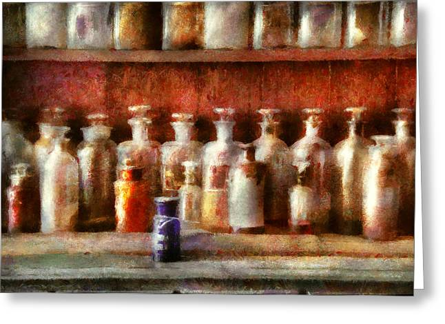 Selection Digital Greeting Cards - Pharmacy - The Medicine Counter Greeting Card by Mike Savad