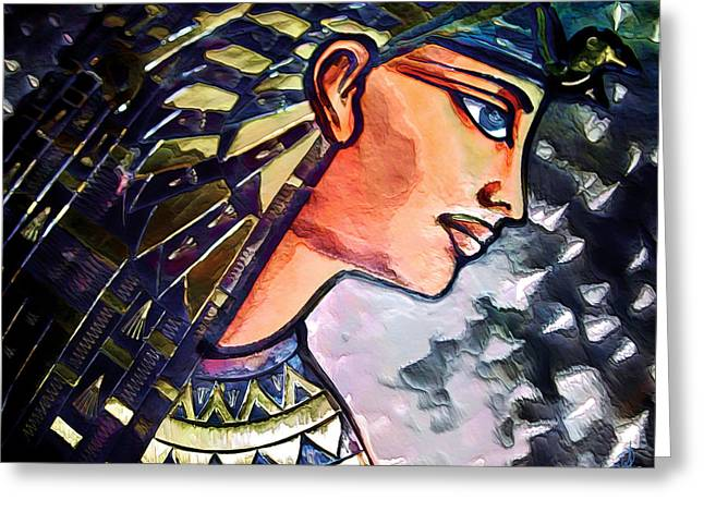 Horus Greeting Cards - Pharoah of Egypt Greeting Card by Pennie  McCracken